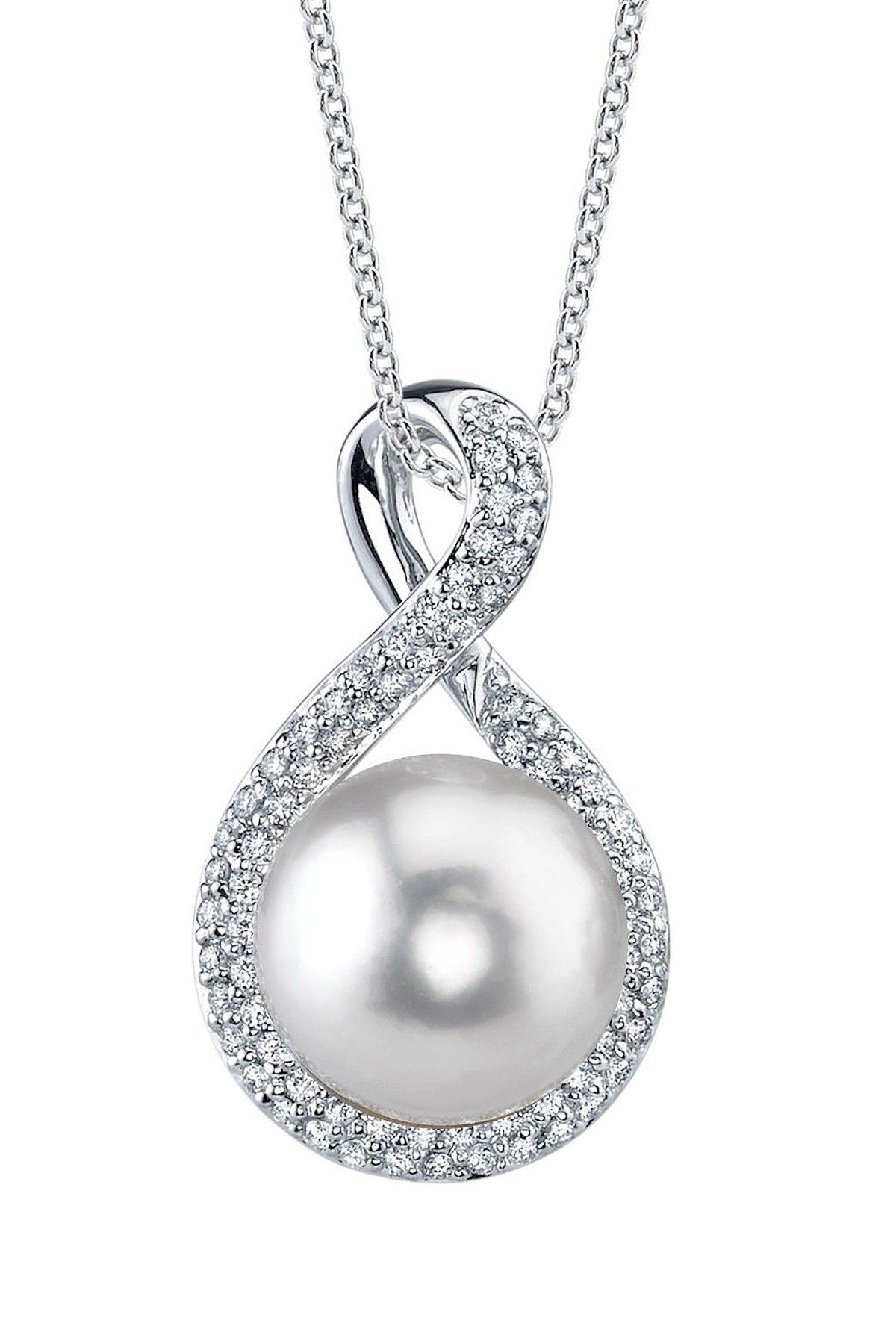 in gold and pendant drop pearl diamond chain white winterson with freshwater rose