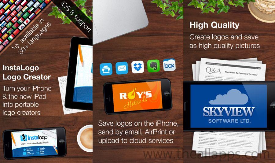InstaLogo Logo Creator แอพสร้างโลโก้บน iOS แจกฟรีแบบจำกัดเวลา