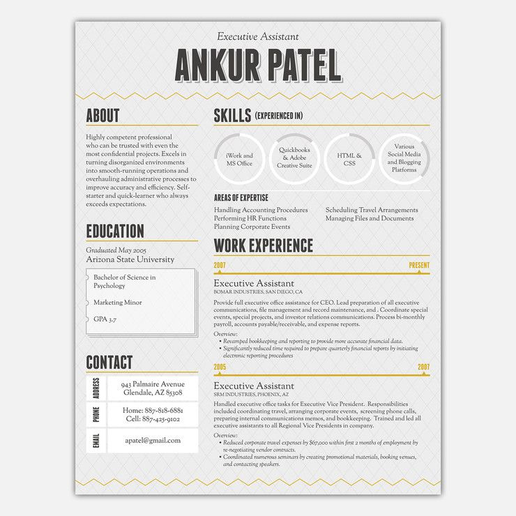 Find accents for your brilliant modern life on Fab CV - resume with accents