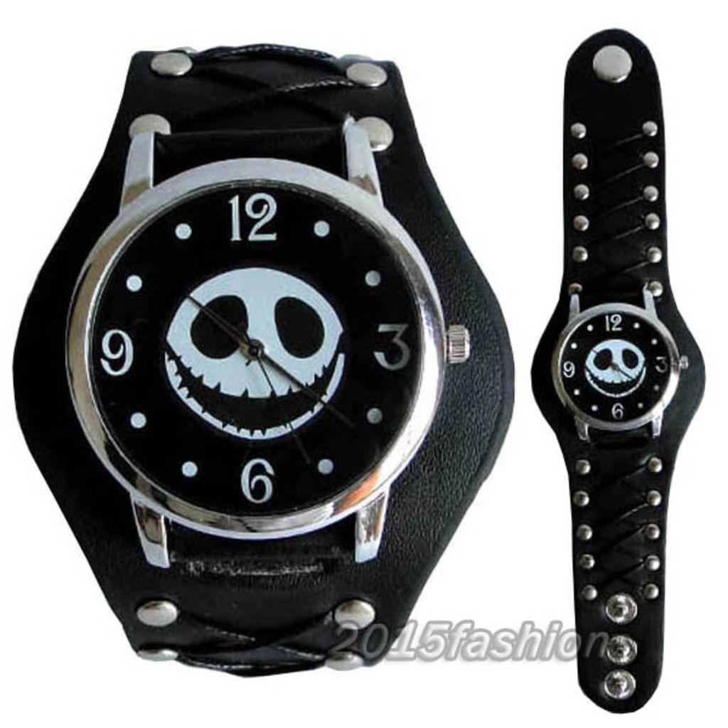 Tim Burton\'s Nightmare before Christmas Jack Face Black Wrist Watch ...