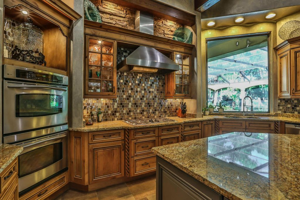 Traditional Kitchen with Mullion Pattern #1, GE Profile ... on Traditional Kitchen Wall Decor  id=79737