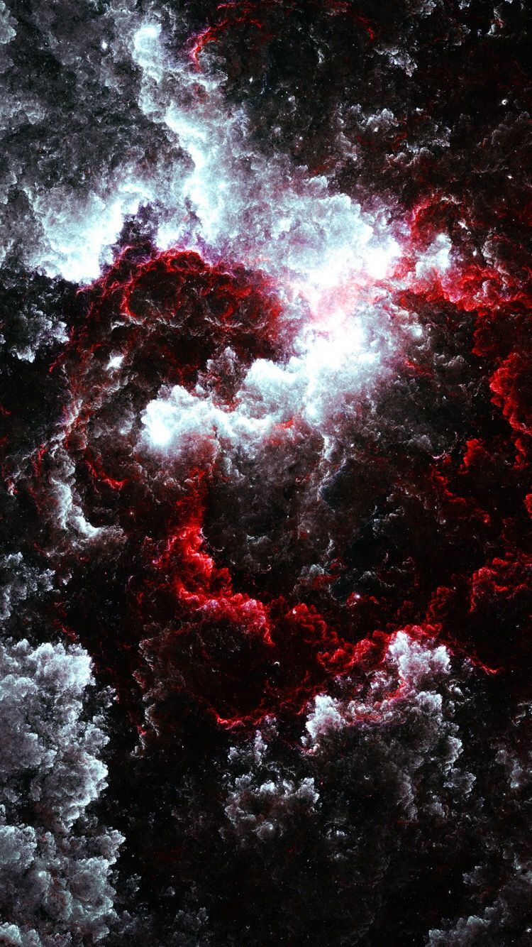 Red White Black Nebula Wallpaper Space Galaxy Wallpaper Art