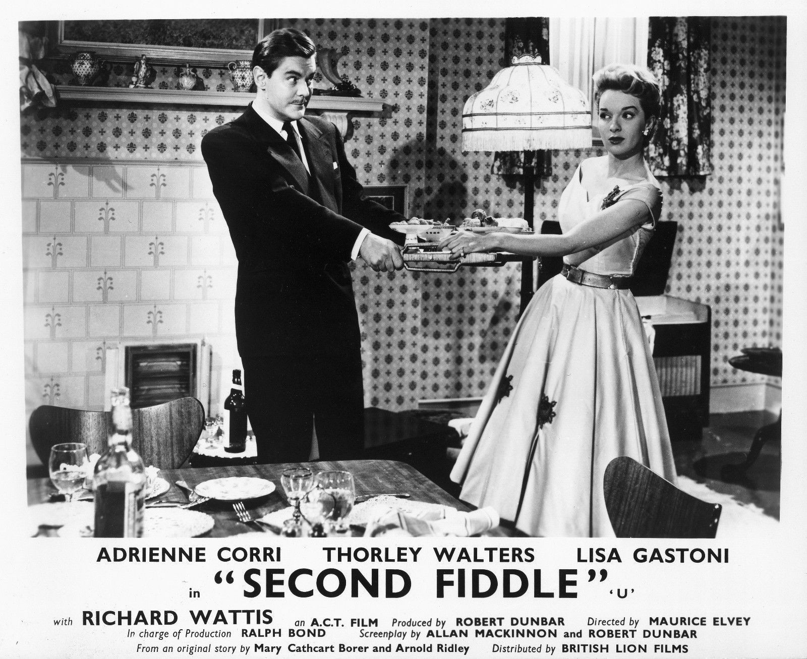 Thorley Walters and Lisa Gastoni in Second Fiddle (1957)