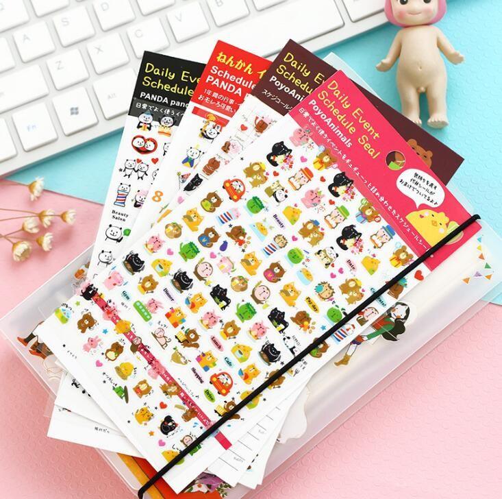 Cute cartoon panda theme PVC decoration mini sticker 14*9cm DIY