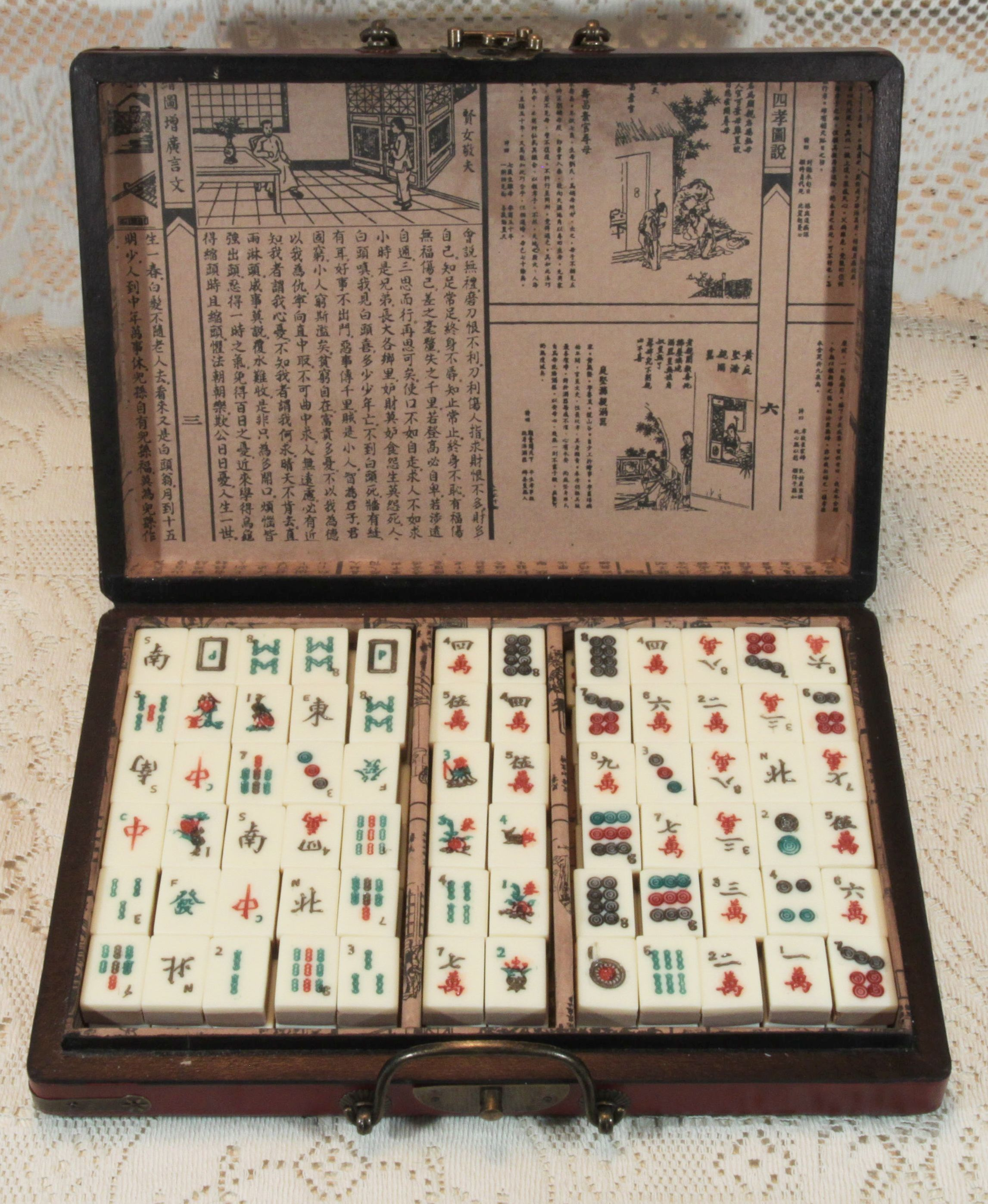 Mahjong, a game that originated in China, is commonly