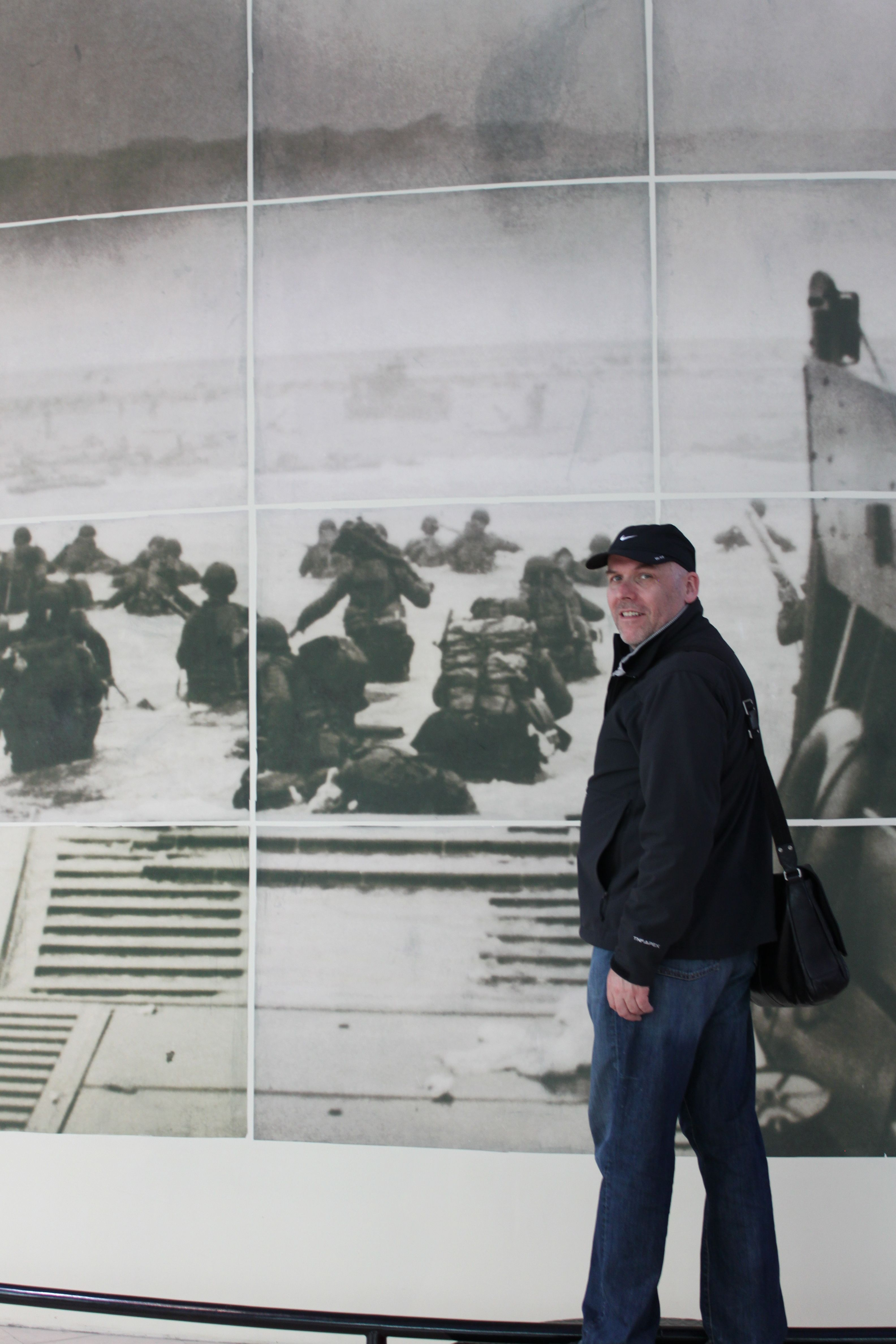 Visiting the D-Day Museum in Normandy.