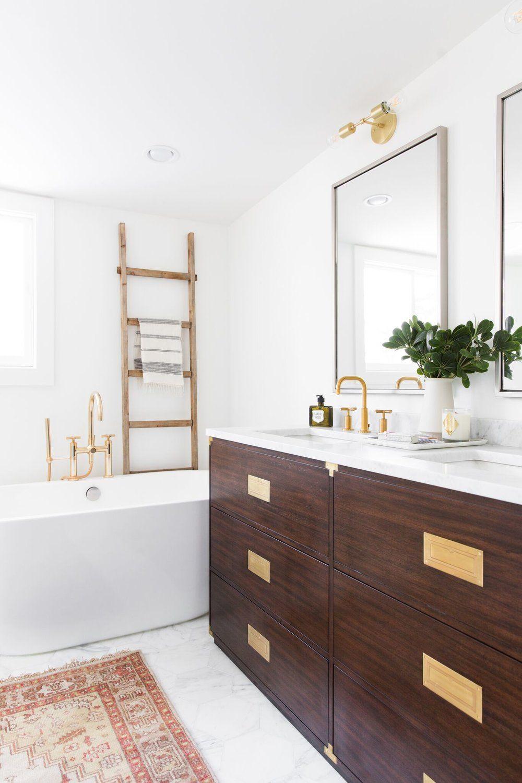 U Street Project Reveal Bathroom Red Bathroom Interior Design White Bathroom
