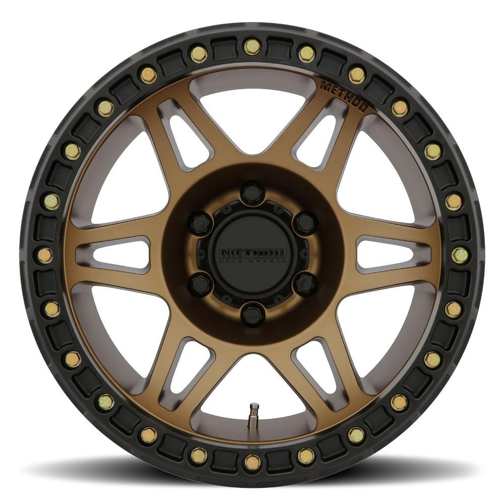 Fits Jk Jl Method Racing Wheel Mr106 Beadlock Bronze 17x9 5x5