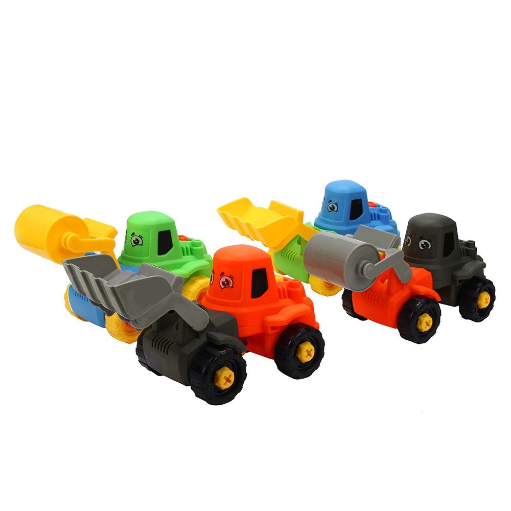 Toys car for kids  PC Fashion Kids Child Baby Disassembly Assembly Cartoon truck Car