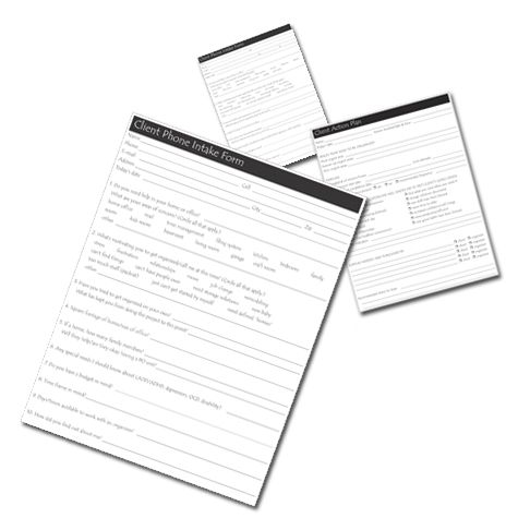Set Of Five Essential Client Forms For Professional Organizers For