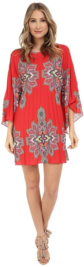 Nicole Miller Bali Melanie Permanent Pleat Dress $295 $235.99