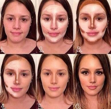Make para afinar o rosto