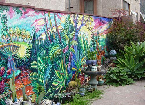Mural On A Fence Good Fences Good Neighbors