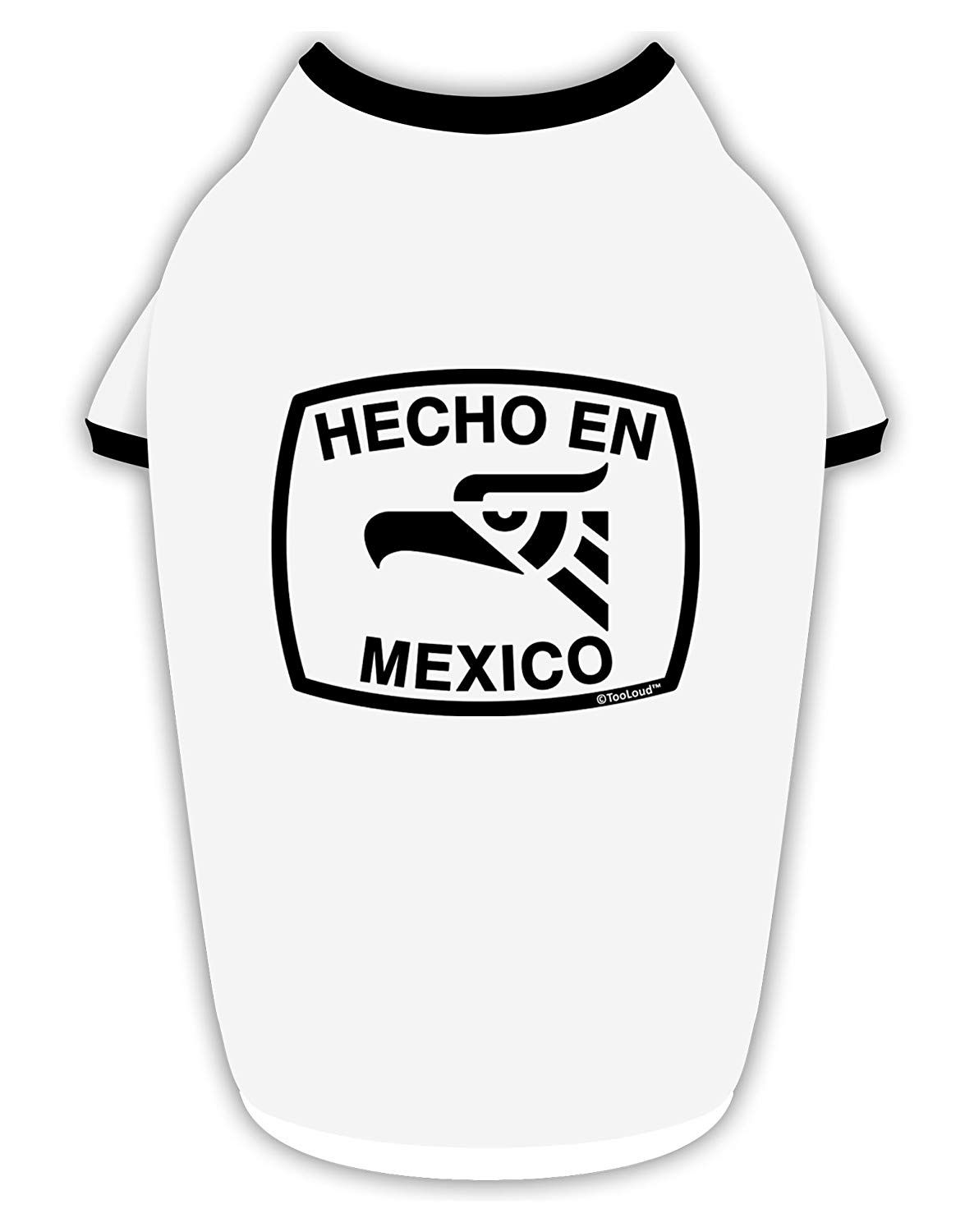 TooLoud Hecho en Mexico Eagle Symbol with Text Stylish