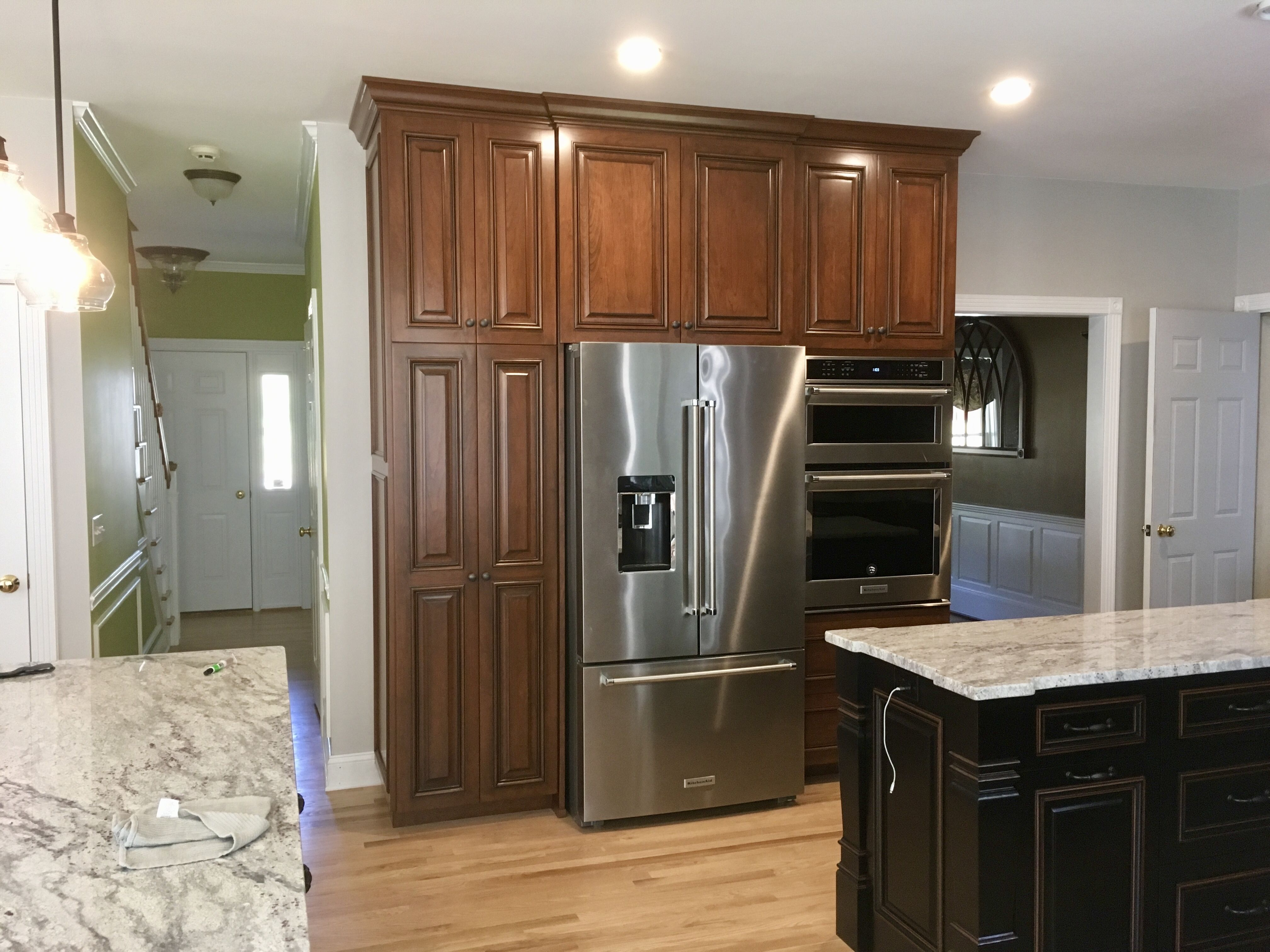 Stained Cherry Full Overlay Kitchen Kitchen Kitchen Cabinets Home Decor
