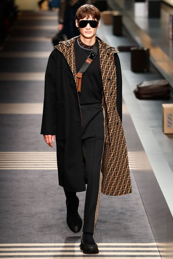 Fendi autumnwinter menswear winter fashion pinterest