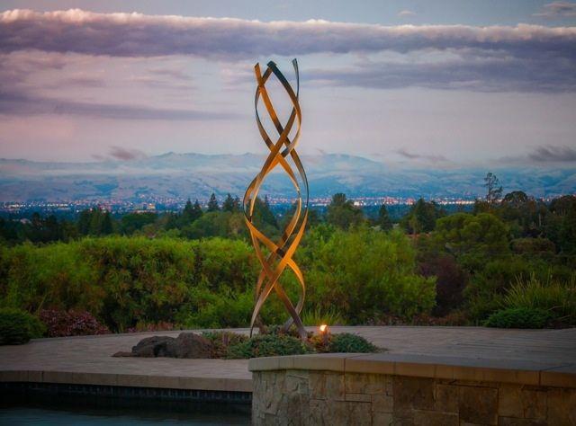 gartendeko ideen beleuchtung skulptur metall rost | vorgarten, Gartenarbeit ideen
