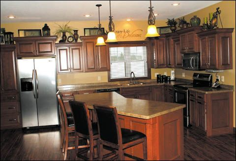 Beautiful How To Decorate Above Staggered Cabinets   Google Search