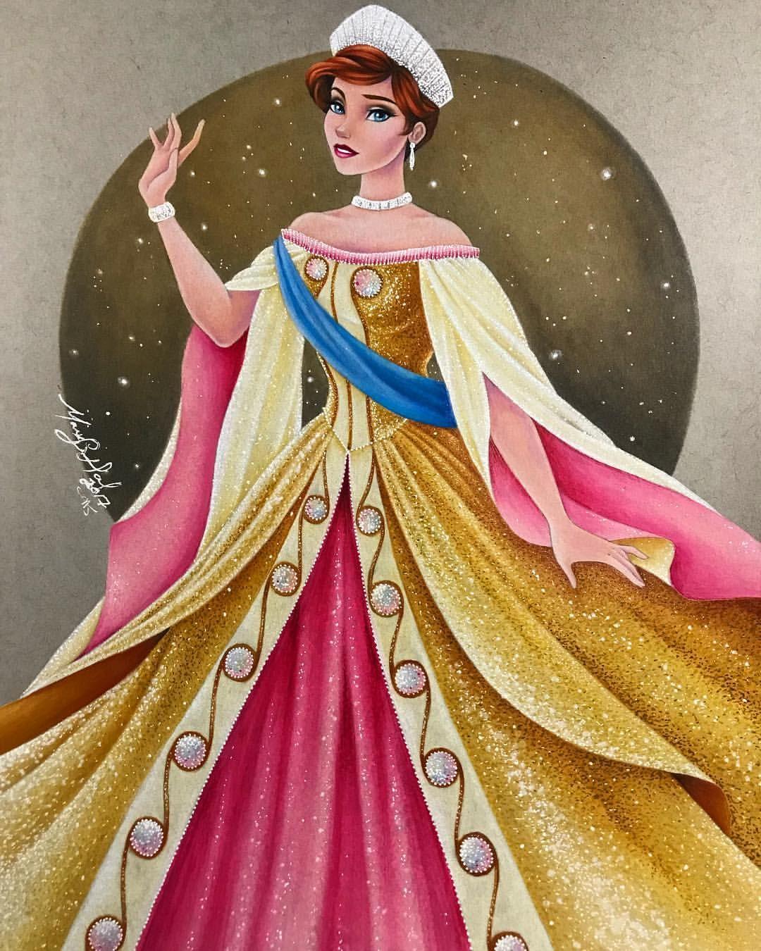 Anastasia by max stephen disney art by max stephen - Peinture princesse disney ...