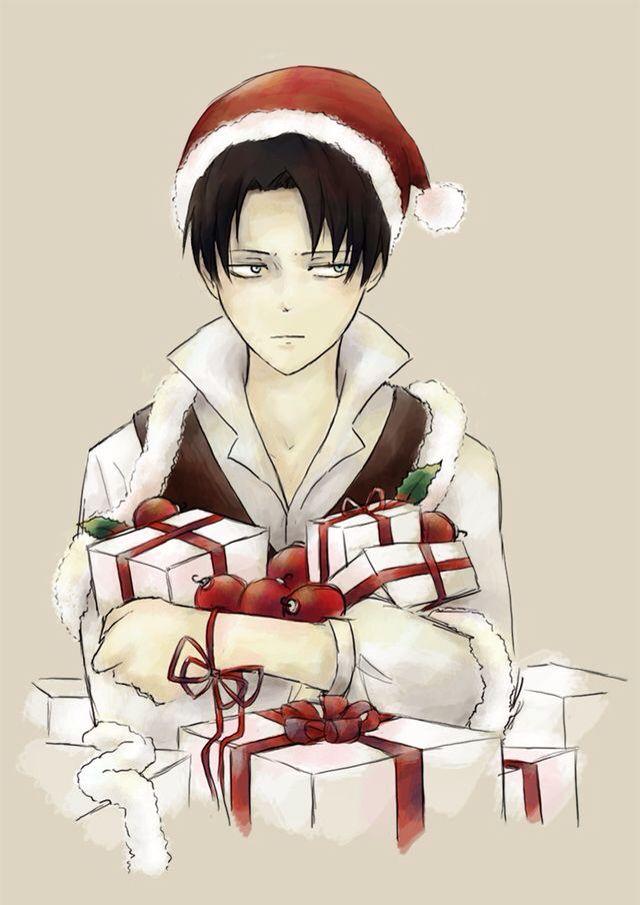 Christmas Levi With Images Anime Christmas Attack On Titan Anime Attack On Titan Levi