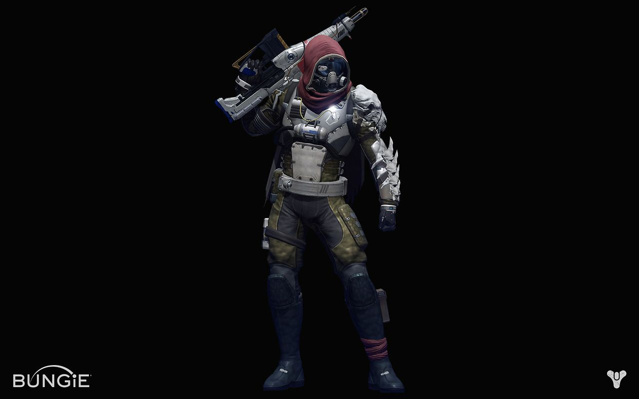 saveroomminibar:  Bungie's Destiny. Wild Character Renders Appear!  Why, hello. I am loving the juxtaposition of soft cloth and hard armor. Its so rarely done.