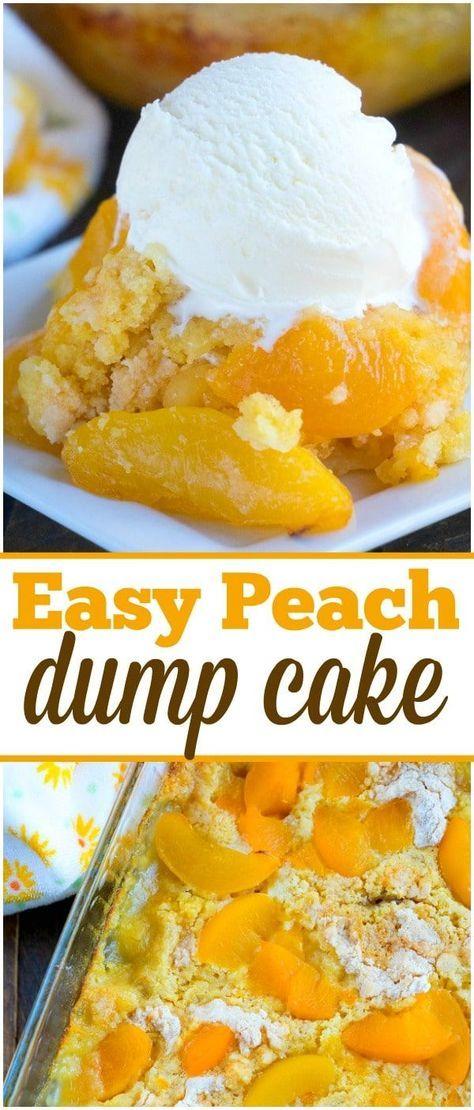 The best peach dump cake evahhhh!! #peachcobblercheesecake