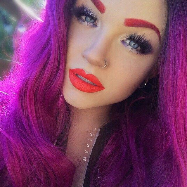 New Fancy Purple Pretty Princess Wig From Hairhegoes