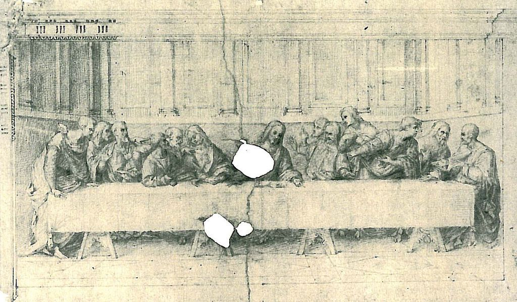 Das Abendmahl (Skizze) - Leonardo da Vinci – Wikipédia, a ...