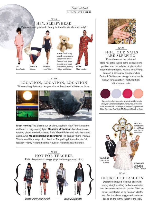 Fall 2013 Trend Report : Fall 2013 Trend Report: Church of ...