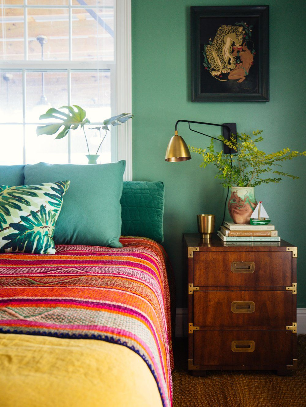 Bedroom colors and designs - Eclectic Bedroom With Tropical Colors