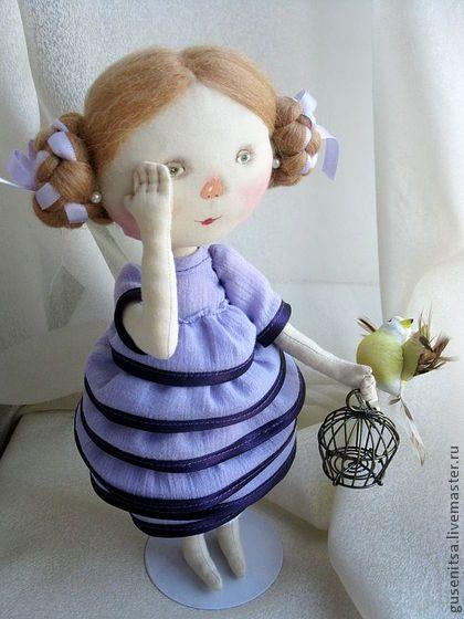 Коллекционные куклы ручной работы. Ярмарка Мастеров - ручная работа Желтая птичка.. Handmade.
