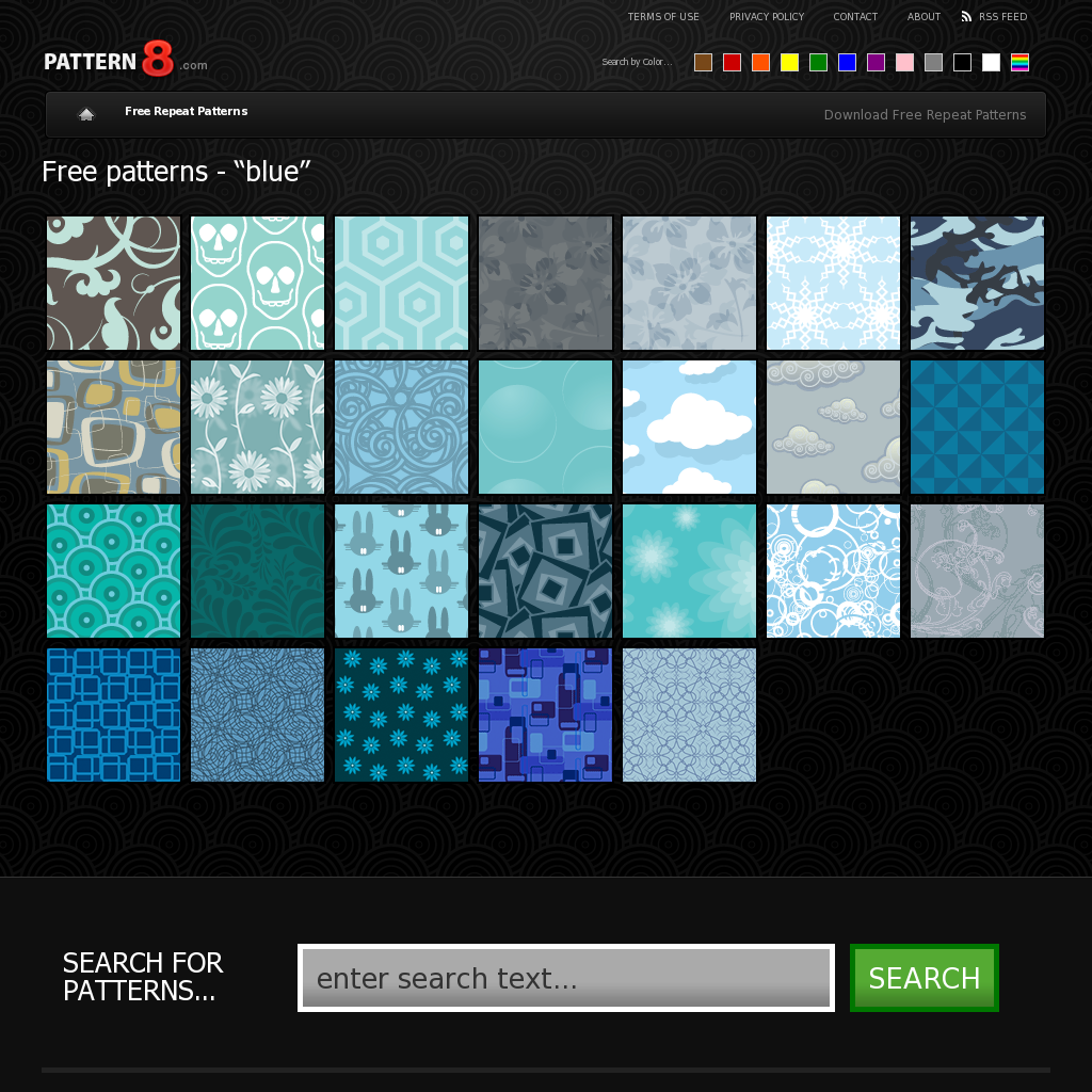 these are just the free blue patterns (you can search for any color here) - http://pattern8.com/tag/blue