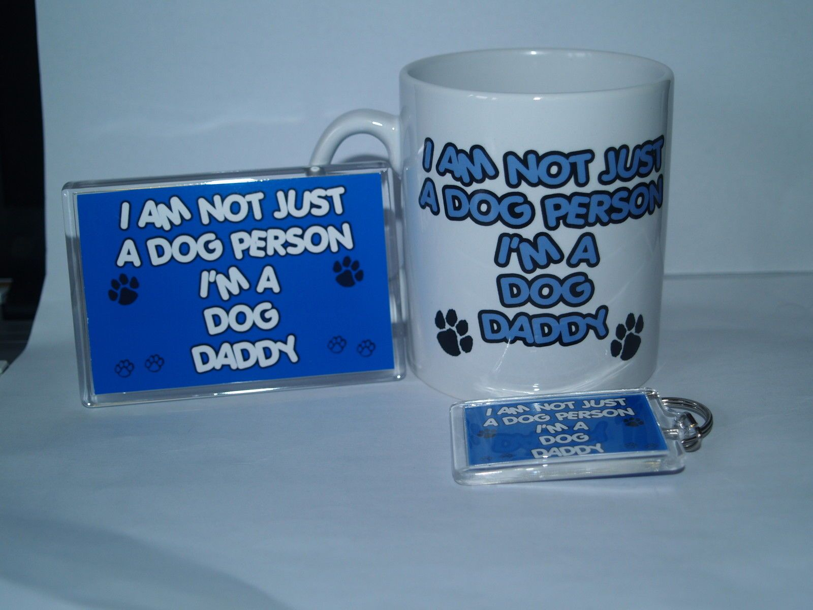 NOT JUST DOG PERSON I/'M A DOGUE DE BORDEAUX DADDY Mug Magnet Keyring Gift Set