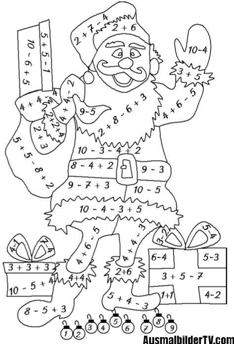 ausmalbilder klasse 1  math for kids kids math