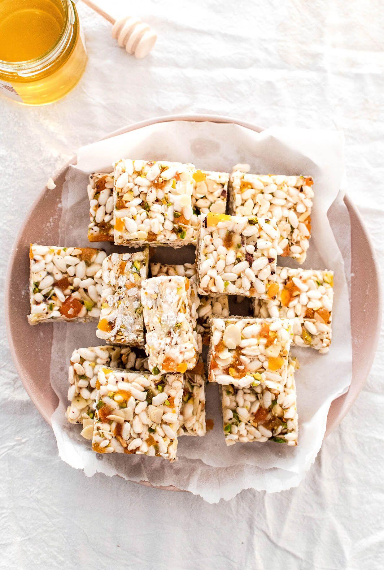 Coconut apricot puffed rice bars recipe puffed rice