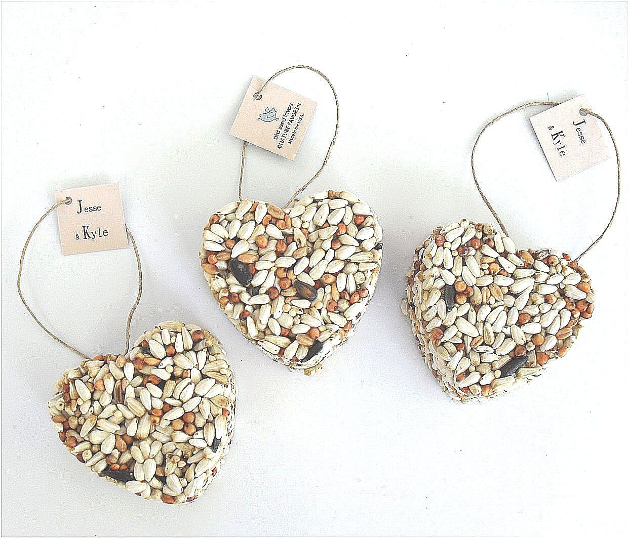 Bird Seed Heart Wedding Favors, free personalized tags - table ...