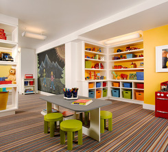 Brightly Colored Playroom By Houzz Kids Korner Pinterest