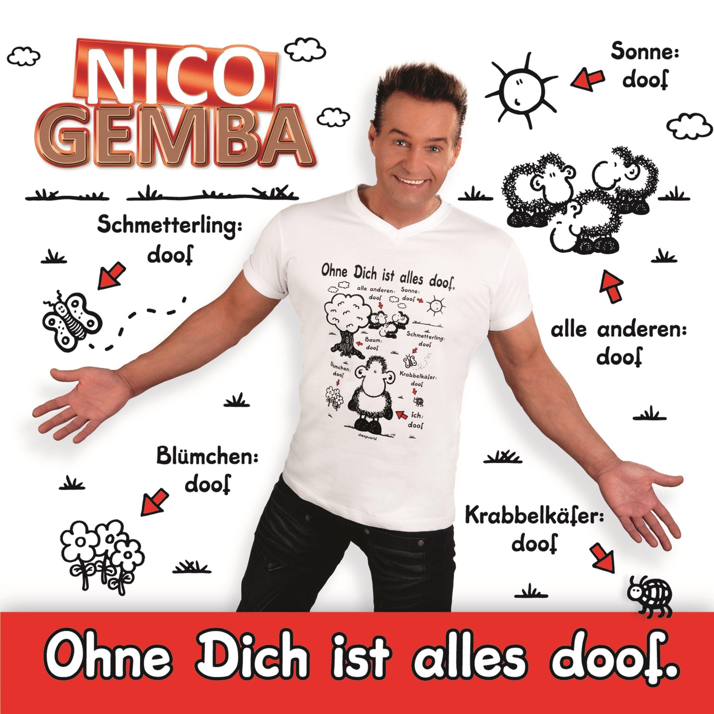 """OUT NOW!  Heute ist es endlich so weit ♥: Der Song """"Ohne Dich ist alles doof"""" von Nico Gemba ist ab sofort im Handel, auf allen Downloadportalen,bei iTunes https://goo.gl/Cc9ld6, bei Amazon goo.gl/VI40EH und auch im sheepworld Shop erhältlich http://goo.gl/20cSWK! Da unser Sören auch gerne mal die Charts stürmen möchte, hoffen wir auf Eure Unterstützung!"""