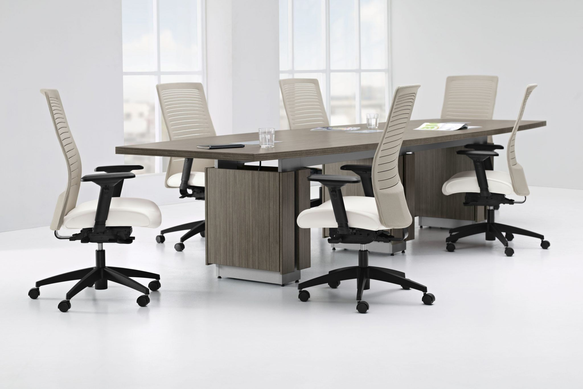 Conference table by Zira. Shop our website, or call us