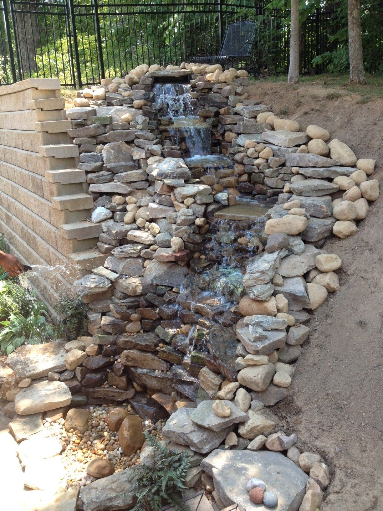 Teacup Garden Disappearing Waterfall- pond-less for less ...