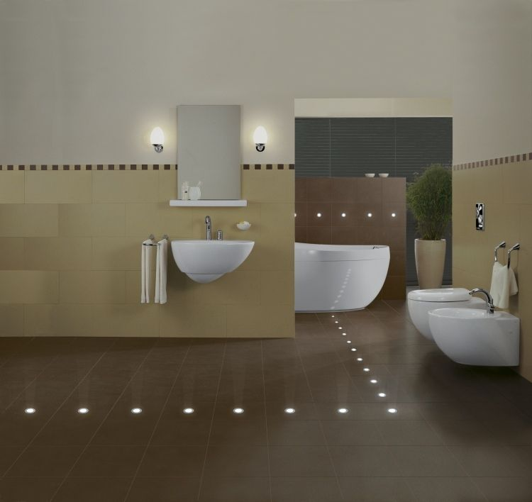 Led In Fliesen Einbauen Ideen Fr Indirekte Beleuchtung Innen Led Badezimmer  Boden
