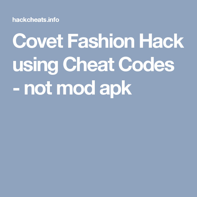 Covet Fashion Hack using Cheat Codes - not mod apk | Tapjoy
