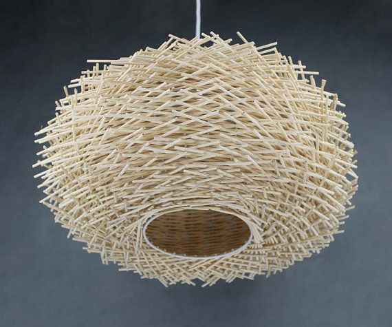 Staggered form natural rattan birds nest pendant light bird ceiling staggered form natural rattan birds nest pendant light bird ceiling lighting rural lamp decor lamp countryside lamp rustic lighting iluminacin aloadofball Images