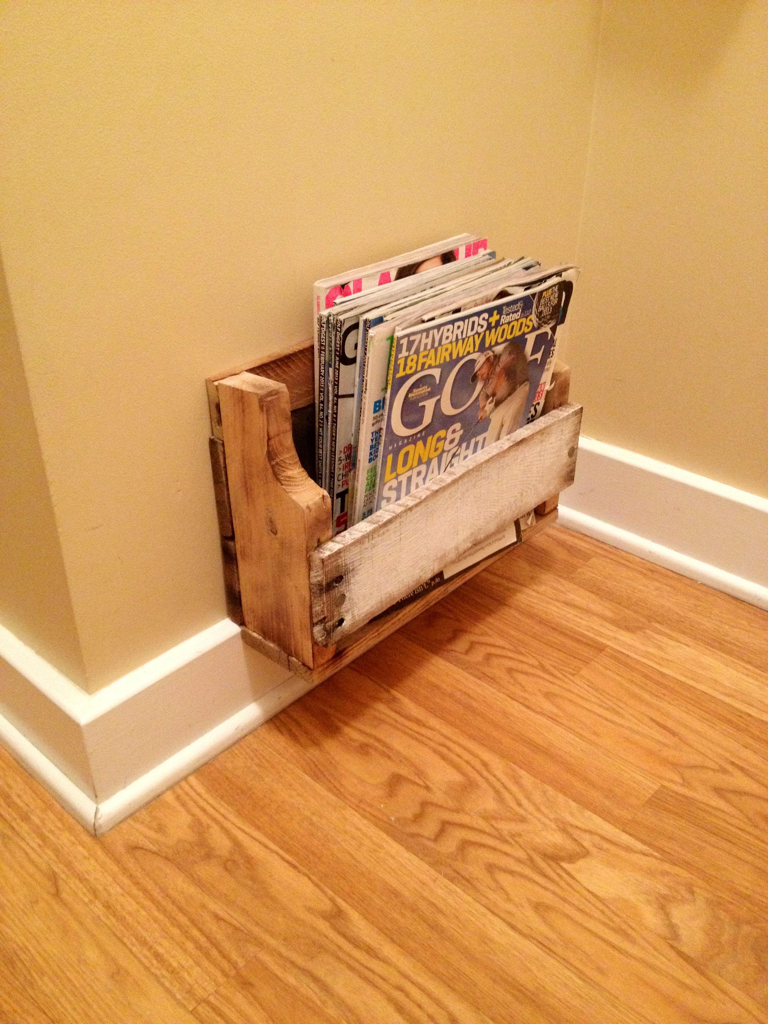 Pallet magazine rack   Wood magazine, Wood pallets ...