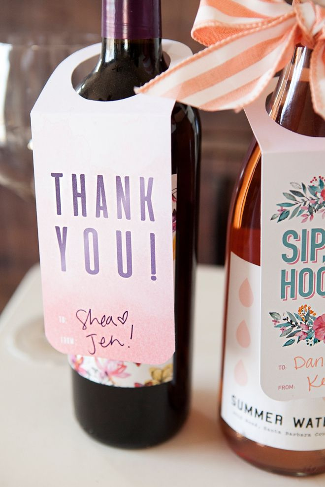 Check Out These FREE, Printable Wine Bottle Gift Tags! | Pinterest