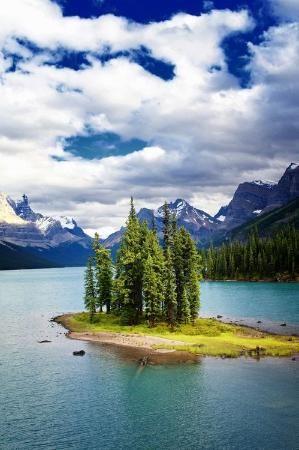 ✯ Lake Island - Alberta, Canada by juliet