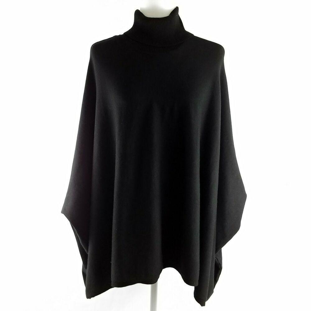 Alfani Poncho Sweater Womens Size 2x Black Turtleneck Knit Silver Buttons Top Alfani Pullover Sweaters For Women Poncho Sweater Outerwear Women [ 1000 x 1000 Pixel ]