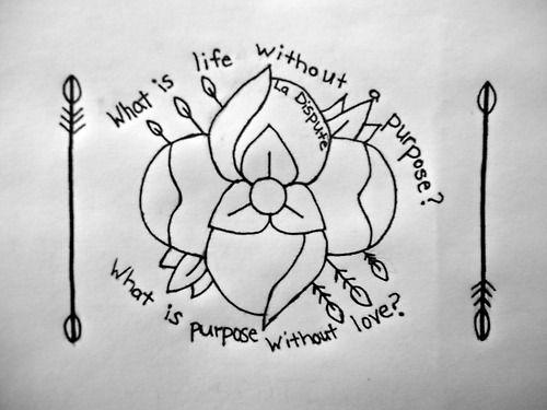 La Dispute tattoo. LOVE