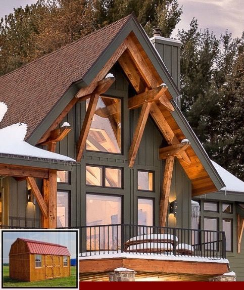 Metal Roof Colors For Log Cabin And Metal Sales Metal Roofing Colors In 2020 Mountain Home Exterior Cabin Exterior Colors Log Homes Exterior