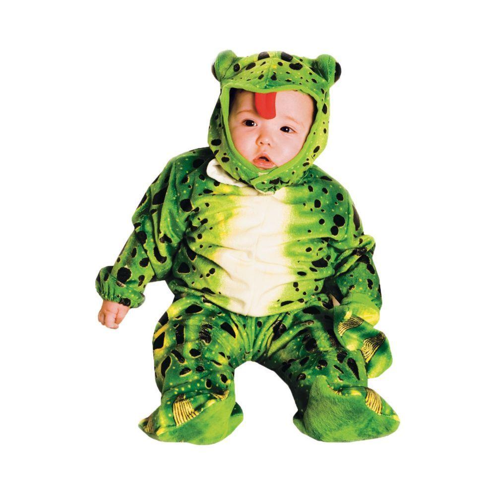 frog plush green halloween costume for toddler